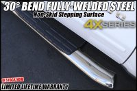 4x 4 inch oval stainless steel nerf bars in phoenix arizona