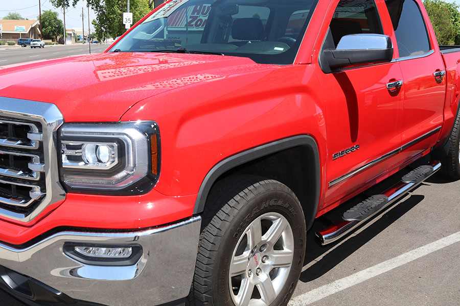 GMC Sierra 5 Inch Oval Stainless Steel Nerf Bars