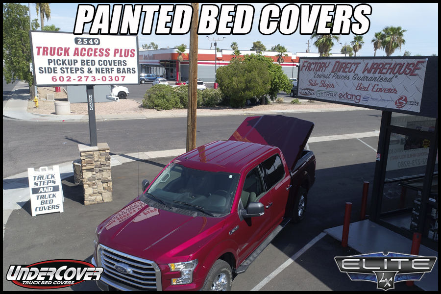 painted tonneau cover undercover elite lx