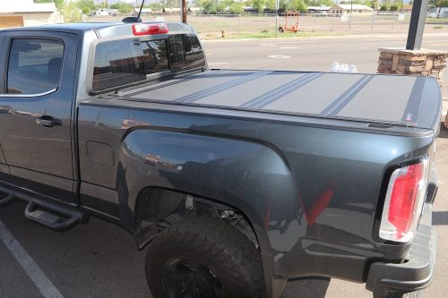 gmc canyon bakflip mx4 hard folding tonneau covers