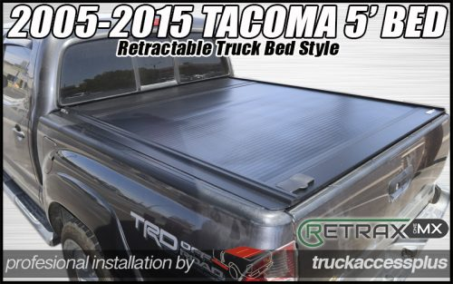 toyota tacoma retractable tonnea cover retraxone mx 60811