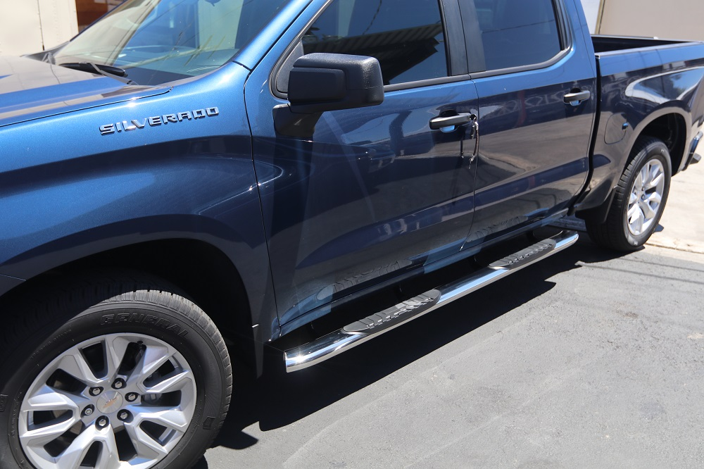 2019 CHEVY RUNNING BOARDS SILVERADO NERF BARS