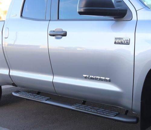 4 Inch Oval Nerf Bars 4X Black Toyota Tundra Double Cab