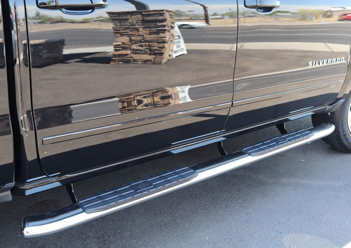 Chevy Silverado 4X 4 Inch Stainless Steel Nerf Bars