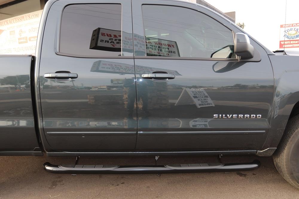 Chevy Silverado Double Cab 3 Inch Round Steps