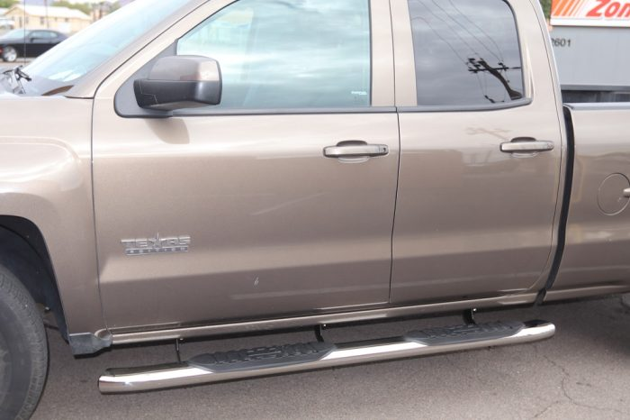 Chevy Silverado Double Cab 5 Inch Oval Polished Steel Nerf Bars