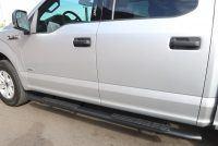 FORD F150 SIDE STEPS 4 INCH OVAL BLACK NERF BARS