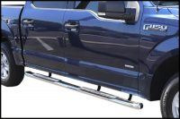 FORD F150 SUPER CAB 4 INCH OVAL STAINLESS STEEL NERF BARS