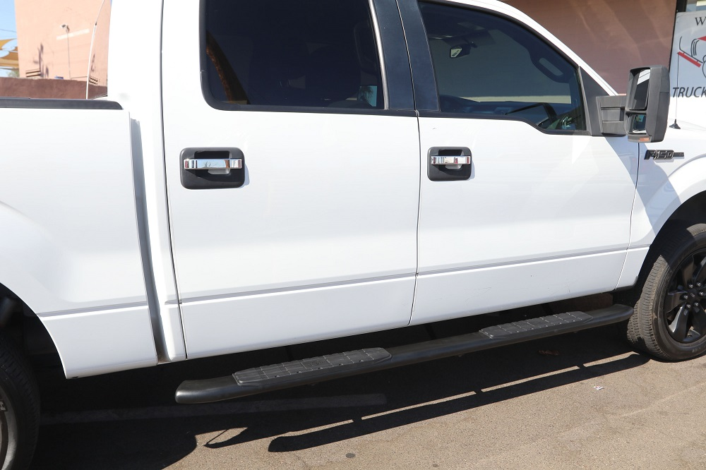 FORD F150 SUPERCREW 4 INCH BLACK STEP BOARDS