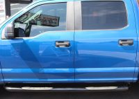 Ford 3 Inch Round Black Nerf Bars