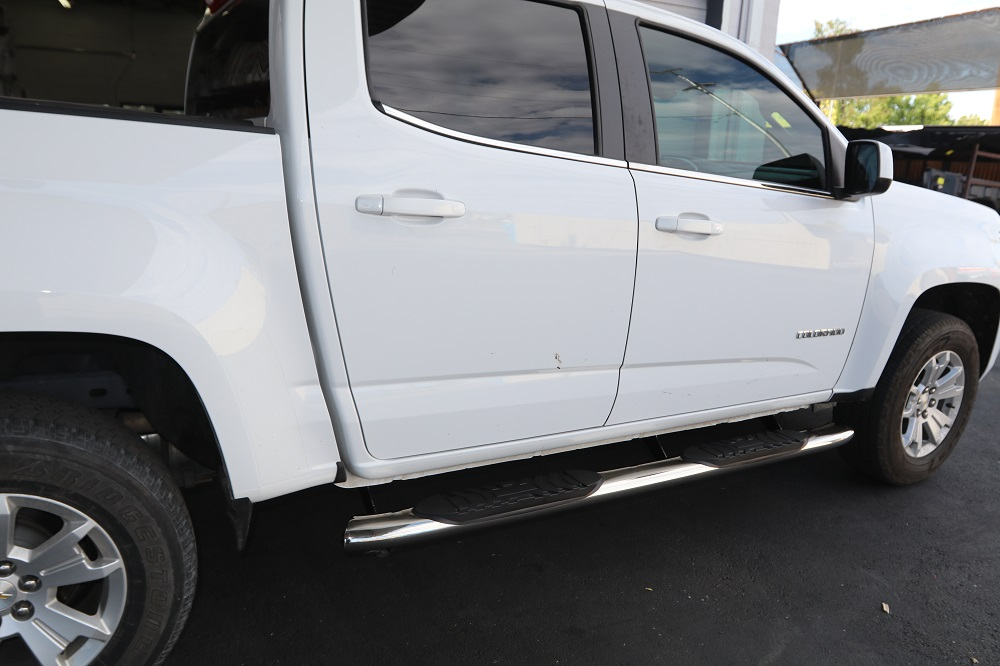 chevy colorado crew cab 5 inch oval nerf bars