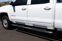 Chevy Silverado 4 Inch Nerf Bars SteelCraft 4X Side Boards Stainless Steel