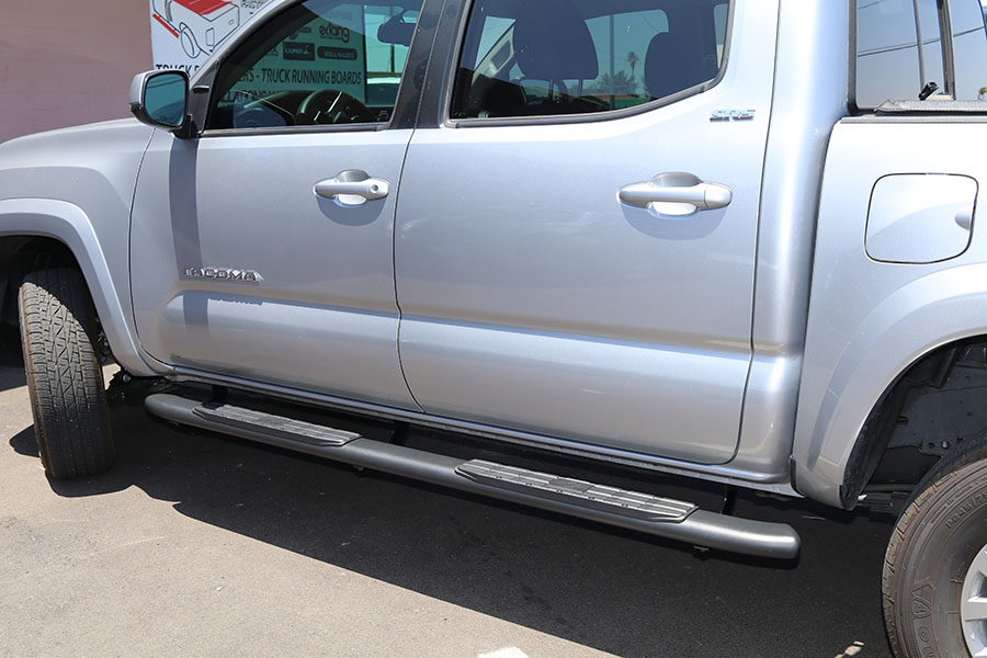 Toyota Tacoma 4 Inch Oval Black Nerf Bars