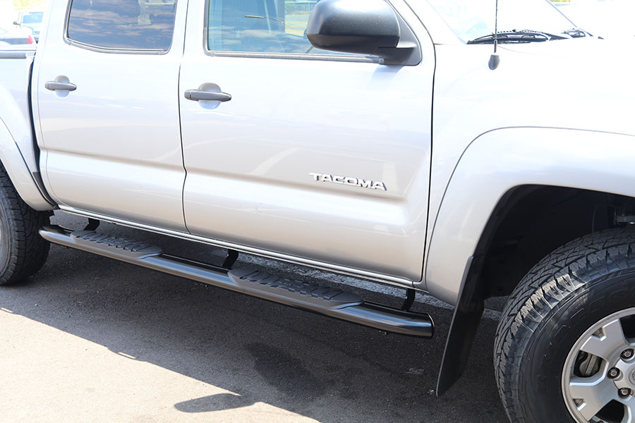 Toyota Tacoma 5 Inch Oval Black Nerf Bars