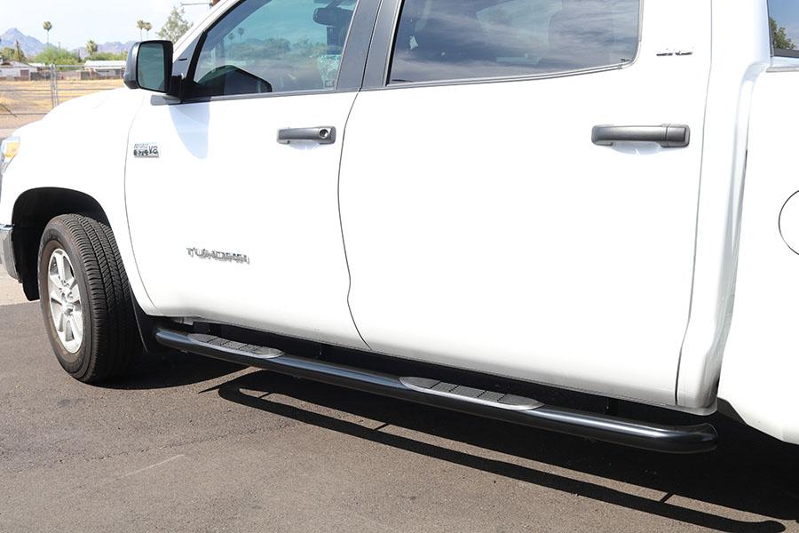 Toyota Tundra 3 Inch Round Black Nerf Bars