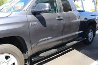 Toyota Tundra Double Cab Wheel To Wheel Black Nerf Bars 5 Inch Oval