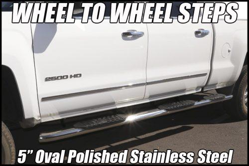 WHEEL TO WHEEL NERF BARS ON GM CREW CAB