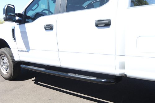 ford f-series 3 inch black nerf bars