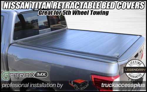 nissan titan retraxpro mx retractable tonneau cover
