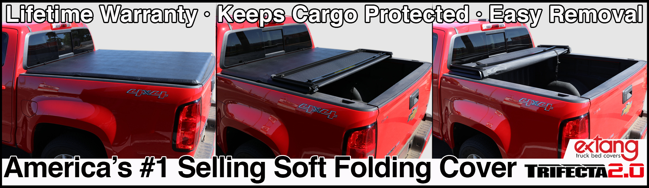 EXTANG TRIFECTA 2.0 SOFT FOLDING TONNEAU COVERS