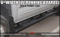 6 inch black running boards