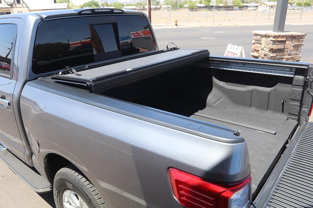 nissan titan bakflip truck bed cover
