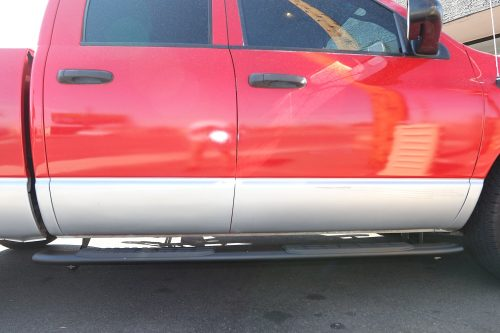 2002-2008 RAM QUAD CAB 4 INCH BLACK SIDE BARS
