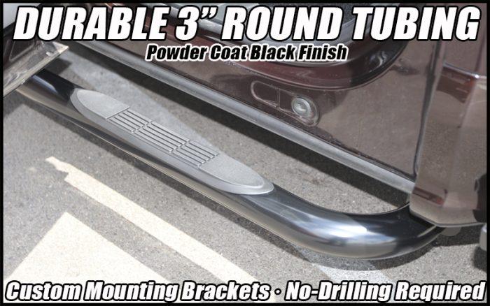 3 inch round black sidebars