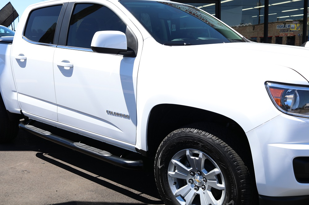 Chevy Colorado Crew Cab Running Boards 3 Inch Black Side Bars