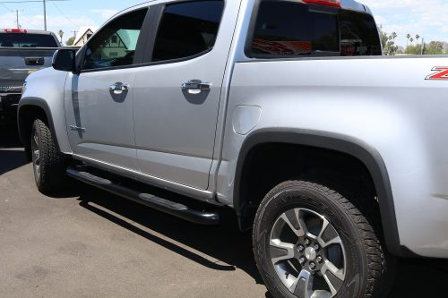 Chevy Colorado Running Boards Black nerf Bars 3 inch round