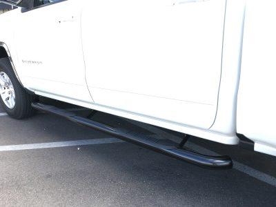 Chevy Silverado Crew Cab 3 Inch Black Nerf Bars