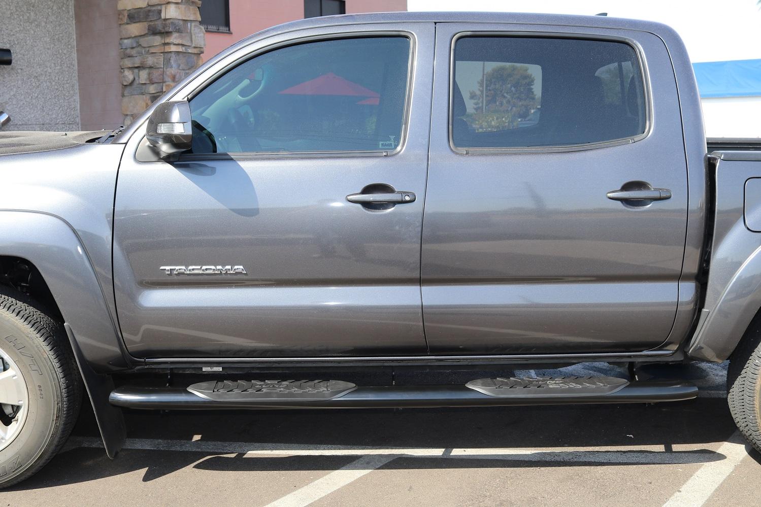Toyota Tacoma 5 Inch Oval Black Nerf Bars