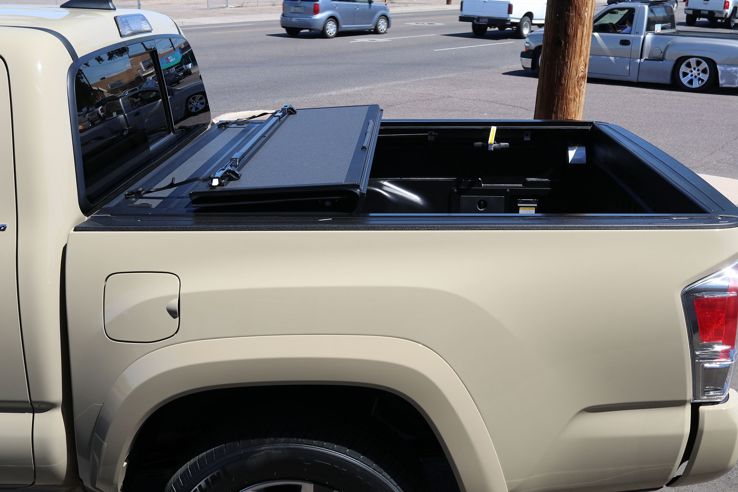 Toyota Tacoma BAKFlip MX4 hard folding truck bed cover