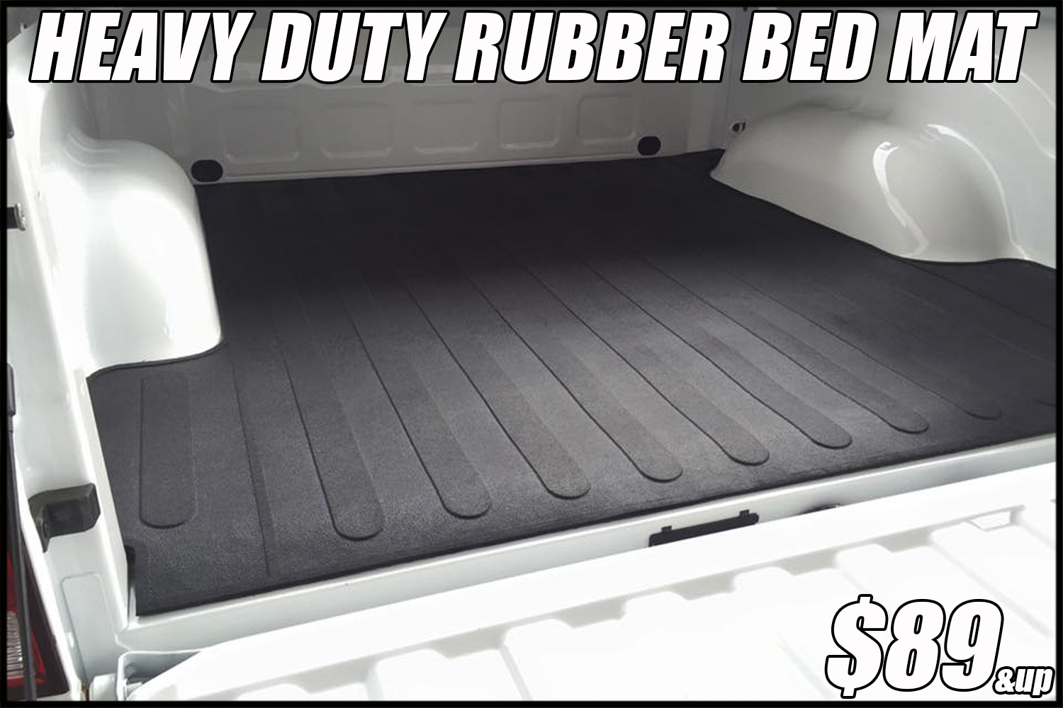 heavy-duty rubber truck bed mat
