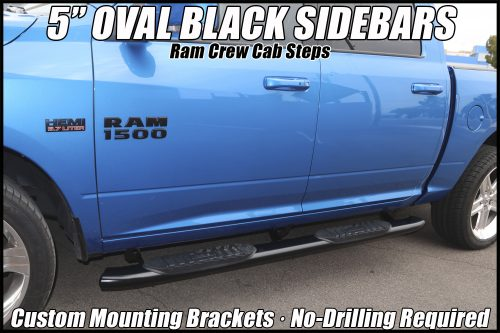 ram 1500 crew cab 5 inch oval black running boards