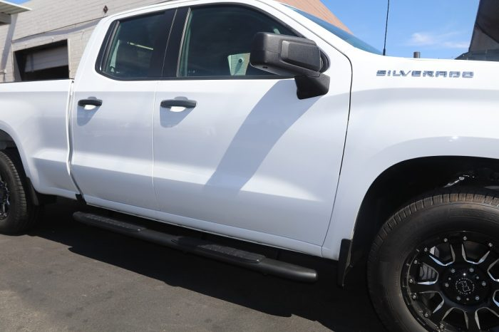 2019 chevy double cab 4 inch black steps