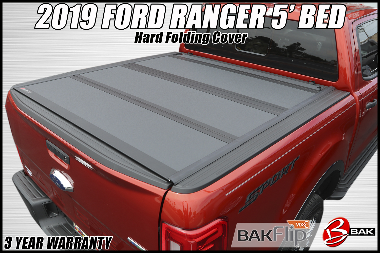 2019 Ford Ranger Bakflip Mx4 Hard Folding Truck Bed Cover Truck