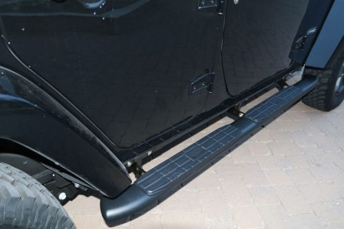 4 INCH BLACK NERF BARS JEEP WRANGLER