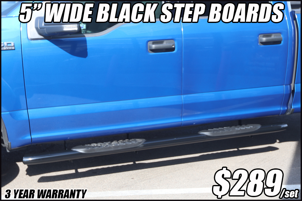 5 inch oval black nerf bars in arizona