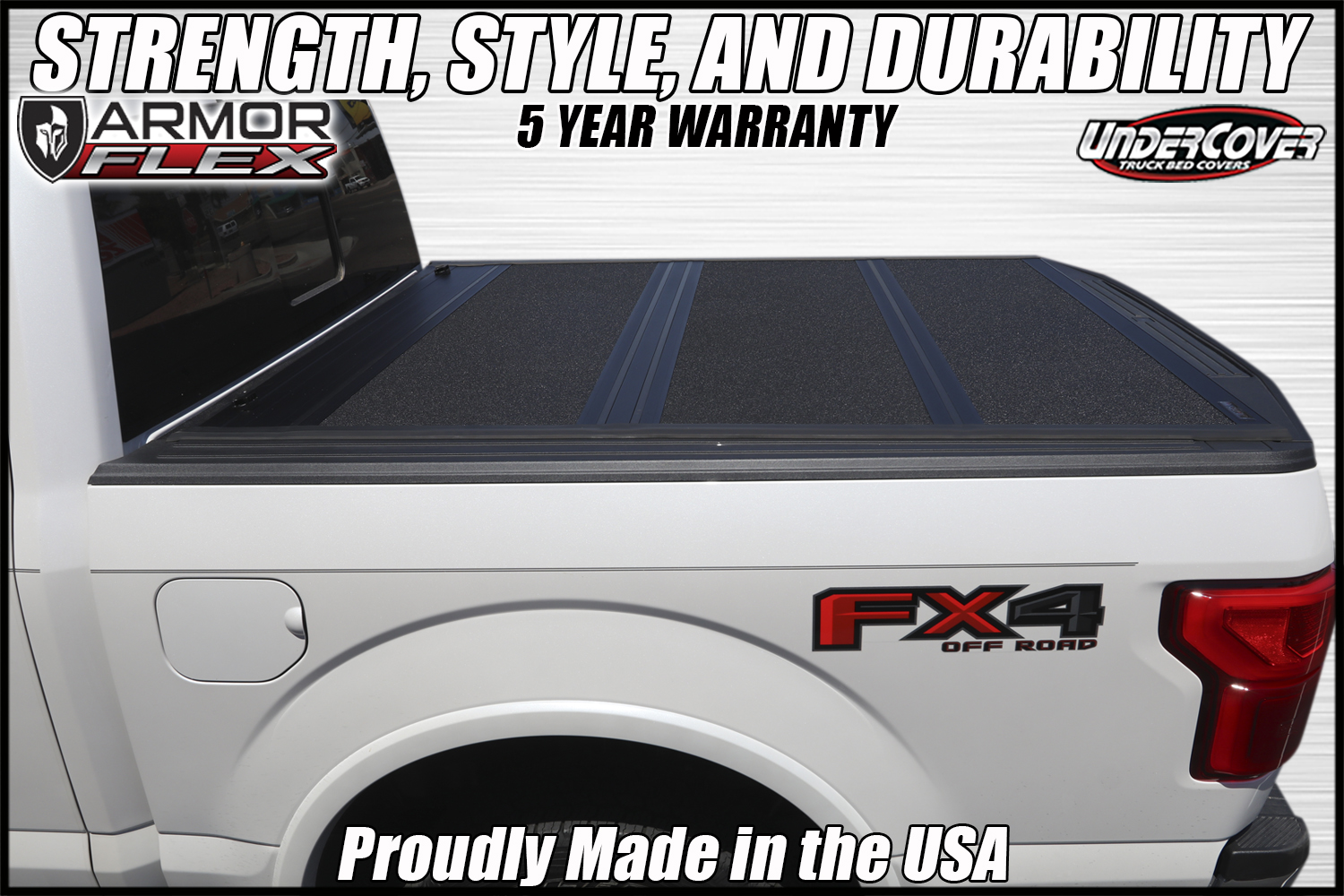 armor flex hard folding truck bed cover by undercover