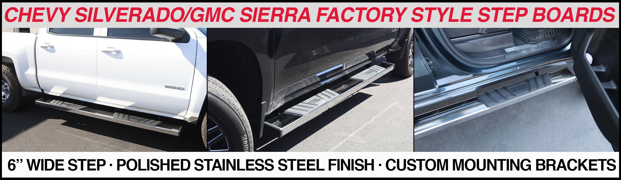 chevy silverado-gmc sierra 6 inch running boards