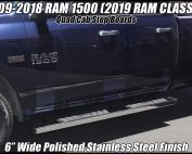 dodge ram nerf bars quad cab step boards