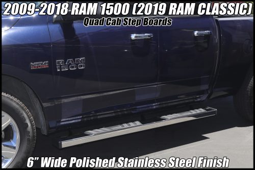 dodge ram nerf bars quad cab step boards