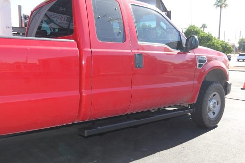 ford super duty 6 inch black step boards