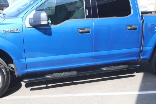 ford running boards f150 5 inch black nerf bars