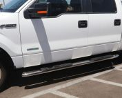 ford side steps f150 4 inch supercrew nerf bars