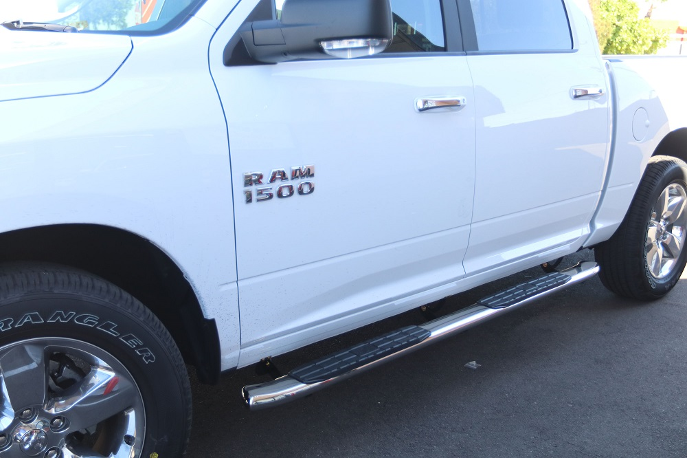 ram 1500 crew cab running boards 4 inch oval chrome nerf bars