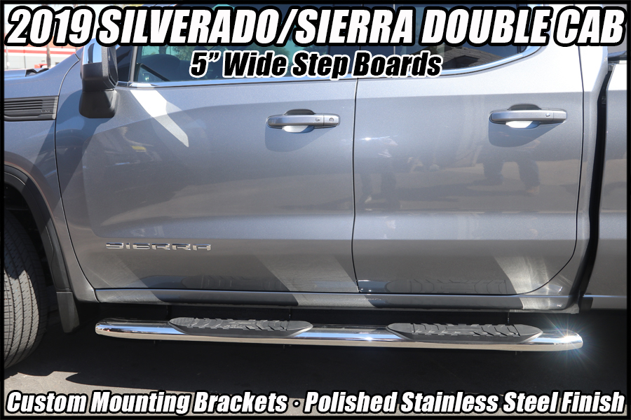 2019 gmc sierra double cab running boards