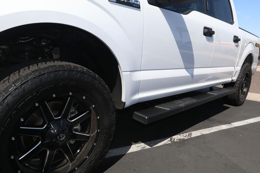 FORD F150 BLACK SIDE STEP RUNNING BOARDS