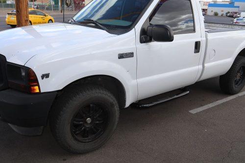 FORD SUPER DUTY REGULAR CAB 3 INCH BLACK NERF BARS
